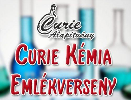 Felhívás a 2018/2019-es tanév Curie Kémia Emlékversenyére