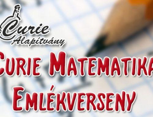 Curie Matematika Emlékverseny 2018/2019-es tanévének feladatsorai